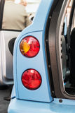 Taillights cars with open doors Stock Image