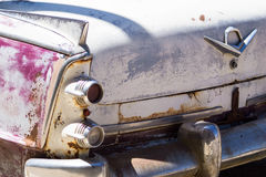 Taillights and tail fin of an old car Stock Photography