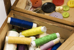 Tailor. A lot of the tailor's accessories to sewing royalty free stock image
