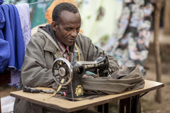 Tailor in Africa Royalty Free Stock Images