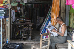 tailor in Burma Stock Images