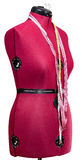 Tailor dummy - female figure red mannequin Royalty Free Stock Image
