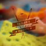 Tailor emblem Stock Image