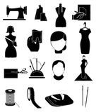 Tailor fashion designer icons set Royalty Free Stock Photo