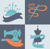 Tailor icons Royalty Free Stock Photography