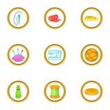 Tailor icons set, cartoon style Royalty Free Stock Photo