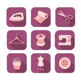 Tailor icons set Stock Image