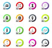 Tailor icons set Royalty Free Stock Photography