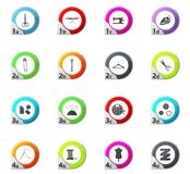 Tailor icons set Royalty Free Stock Image