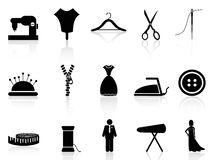 Tailor icons set Stock Photography