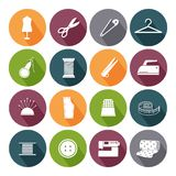 Tailor icons for sewing Stock Photos