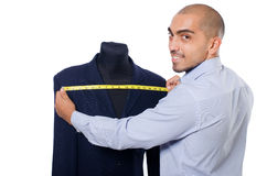 Tailor. Isolated on the white background Stock Images