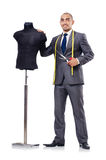 Tailor. Isolated on the white background royalty free stock image