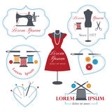 Tailor labels, badges and emblems Royalty Free Stock Image