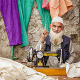Tailor in Leh Royalty Free Stock Image