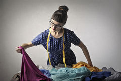 Tailor made clothes Stock Images