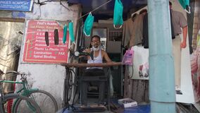 Tailor making face masks amid coronavirus pandemic