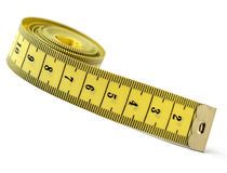 Tailor measuring tape isolated stock images