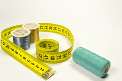 Tailor meter and a thread Royalty Free Stock Image
