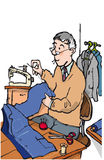 Tailor. Older tailor making suit jacket Stock Photos