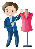 Tailor and pink suit Royalty Free Stock Photography