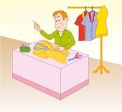Tailor preparing suit Royalty Free Stock Photos