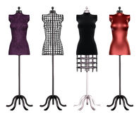 Tailor's dummies. A collection of dress forms Stock Photo