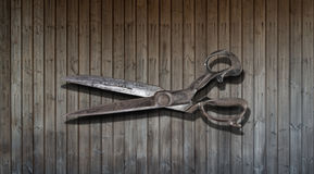 Tailor`s shears Royalty Free Stock Photography