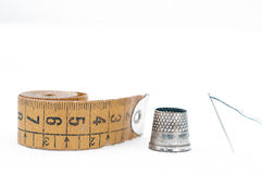 Tailor's Thimble and needle Royalty Free Stock Photos