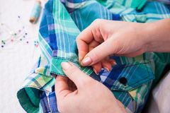 Tailor's work Stock Photo