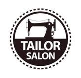 Tailor salon, dressmaker atelier or shop vector icon template Stock Photography