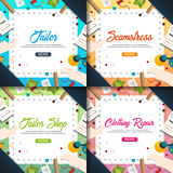 Tailor and seamstress banner. Sewing kit. Needlework, handmade. Dressmaking concept. Tailor and seamstress banner. Sewing kit. Needlework, handmade Dressmaking Royalty Free Stock Photo