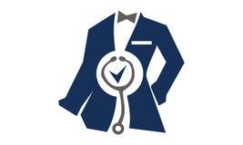 Tailor Service医生的衣物 免版税图库摄影