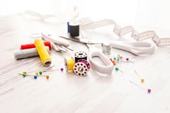Tailor - Sewing accessories Royalty Free Stock Photo