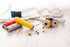 Tailor - Sewing accessories Stock Image