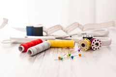 Tailor - Sewing accessories Royalty Free Stock Image