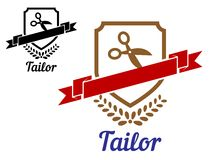 Tailor or sewing emblem Royalty Free Stock Image