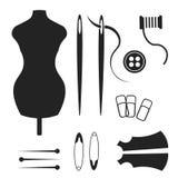 Tailor, sewing, handmade logo or emblem. Vector illustration. Tailor, sewing, handmade logo or emblem Vector illustration Stock Photos