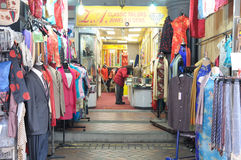 A Tailor shop along Pagoda Street in the Chinatown of Singapore Royalty Free Stock Photos