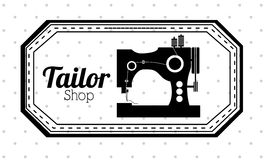 Tailor shop design Stock Image