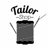 Tailor shop design Stock Images