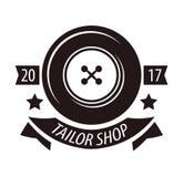 Tailor shop or dressmaker atelier salon vector icon template Stock Photography