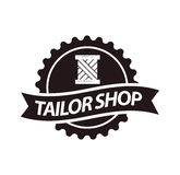 Tailor shop or dressmaker atelier salon vector icon template Stock Photos