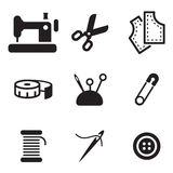 Tailor Shop Icons Royalty Free Stock Image