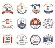 Tailor shop original labels icons set Stock Photo