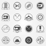 Tailor shop vector elements and badges Royalty Free Stock Photography