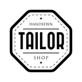 Tailor shop vintage stamp logo Royalty Free Stock Image