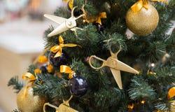 Tailor style xmas tree Royalty Free Stock Image