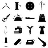 Tailor tools icons set, simple style Stock Photo