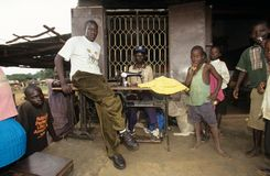 A tailor in Uganda. Stock Images